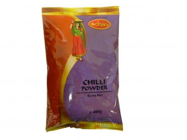 Schani Chilli Powder Extra Hot 400 g Chillipulver extra scharf